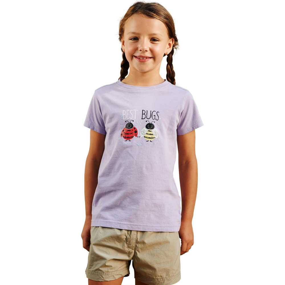 Product image of Regatta Girls Chute Casual Soft Cotton Printed Graphic T Shirt 2 years - Chest 53-55cm