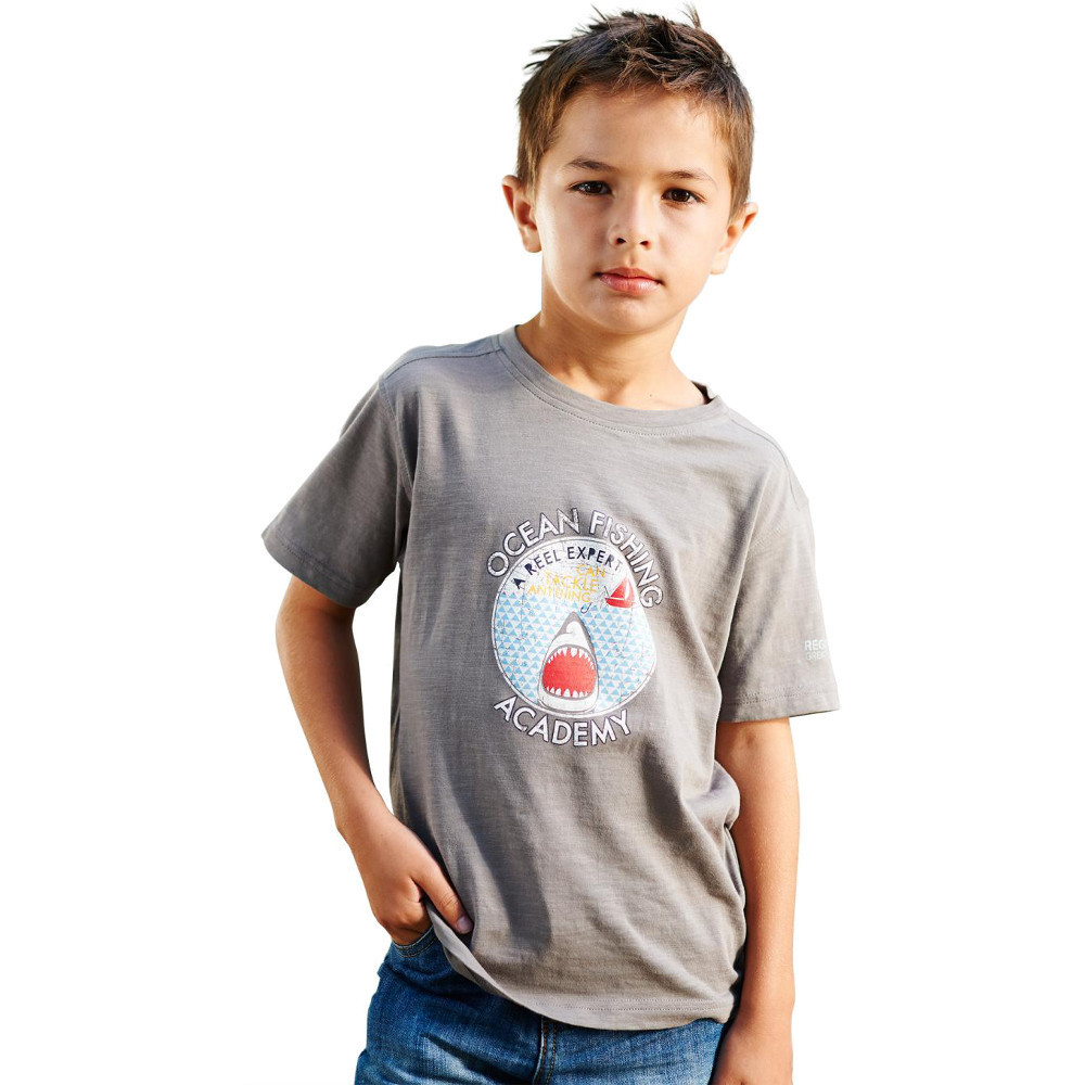 Product image of Regatta Boys Zorb Casual Soft Cotton Printed Graphic T Shirt 2 years - Chest 53-55cm