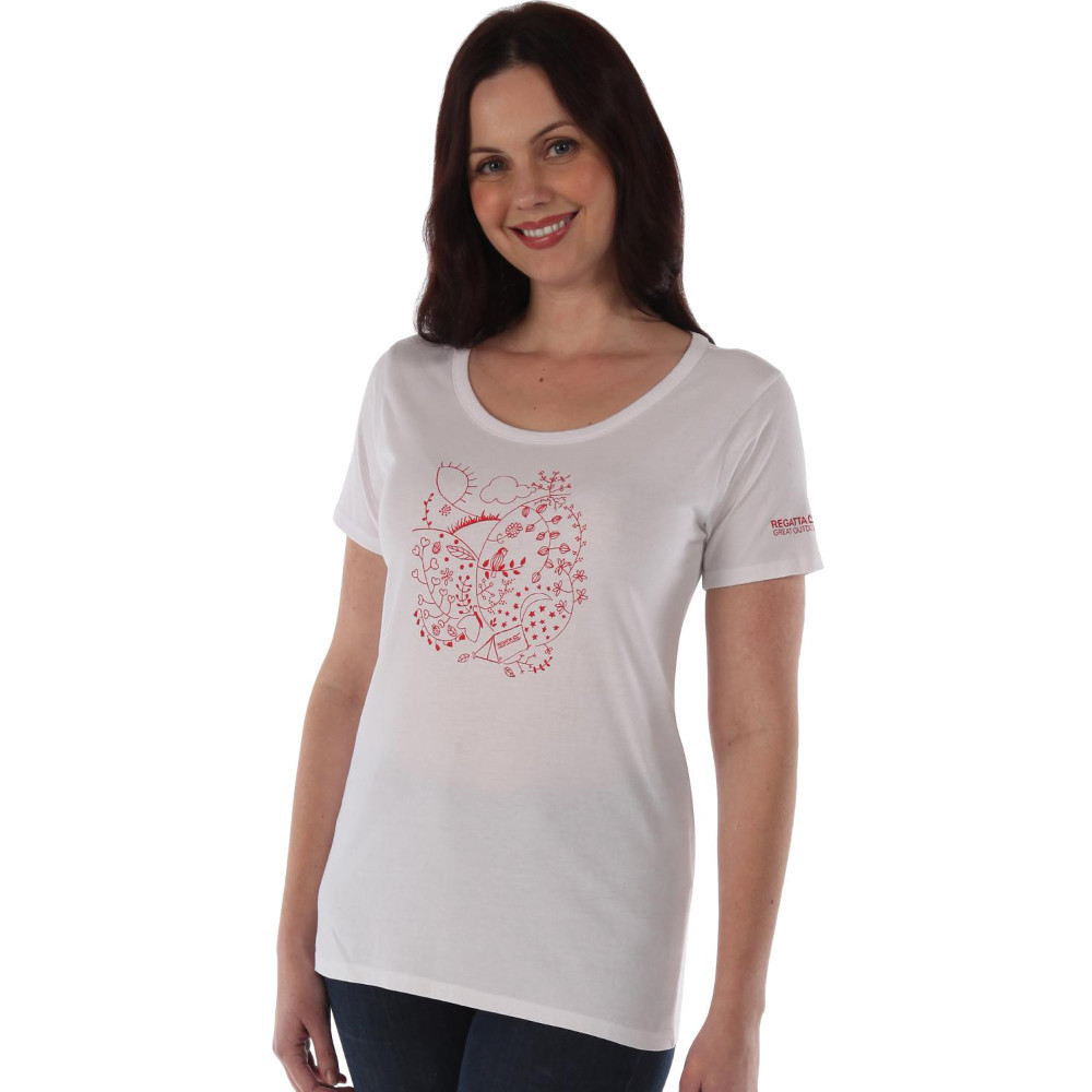 Product image of Regatta Womens/Ladies Minden Casual Soft Cotton Printed T Shirt UK 10 - Bust 34' (86cm)