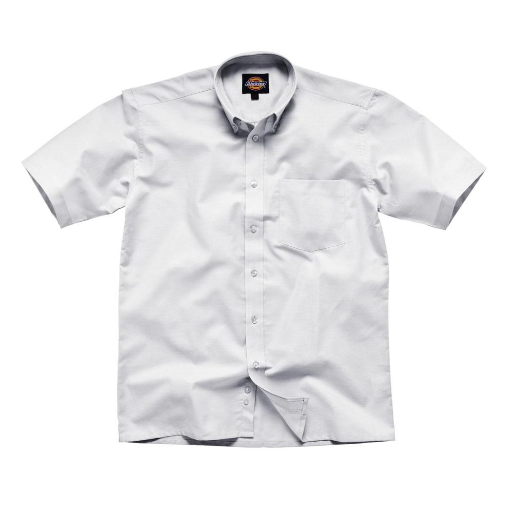 Dickies Mens Workwear Oxford Weave Short Sleeved Shirt White SH64250W