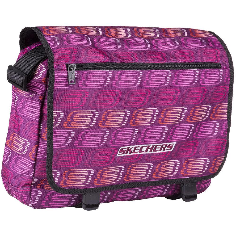 skechers original 600d robust polyester laptop messenger bag one size
