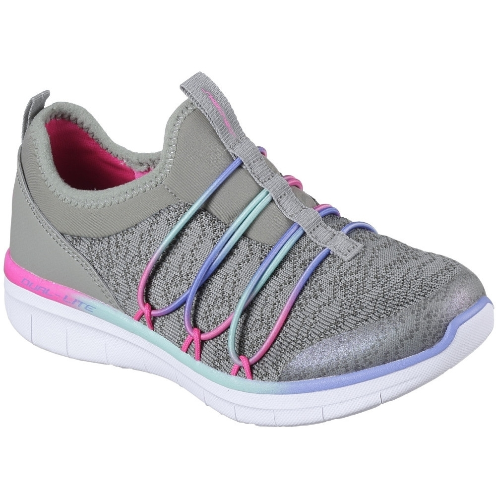 Image of Skechers Girls Synergy 2.0 Simply Chic Slip On Athletic Trainers Shoes UK Size 12 (EU 30)