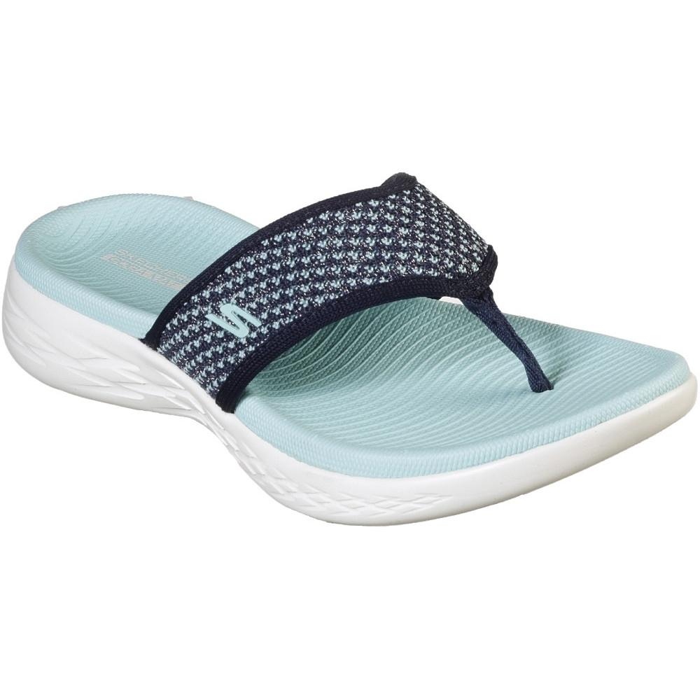 Image of Skechers Womens On-The-Go 600 Flip Flop Footbed Sandals UK Size 4 (EU 37)
