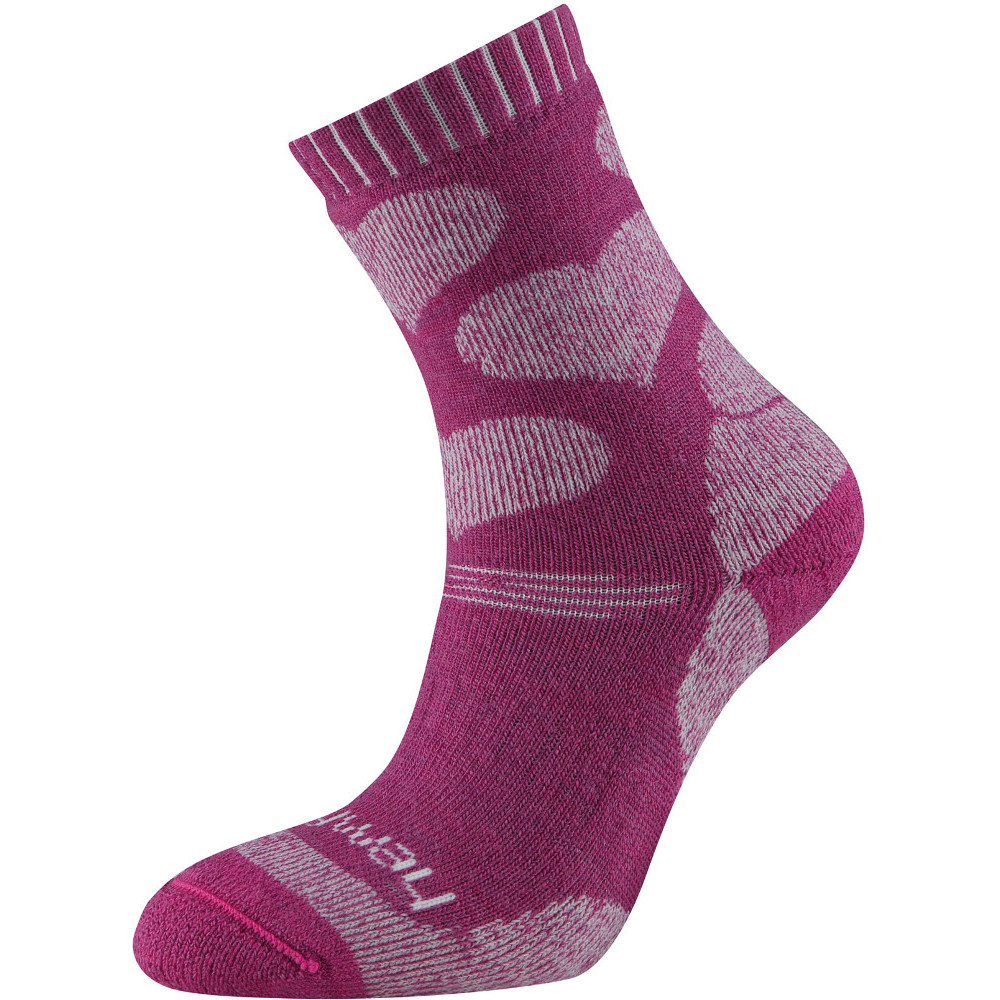 Product image of Sprayway Girls Hearts Trekking Stretch Wicking Walking Socks Size 10-12