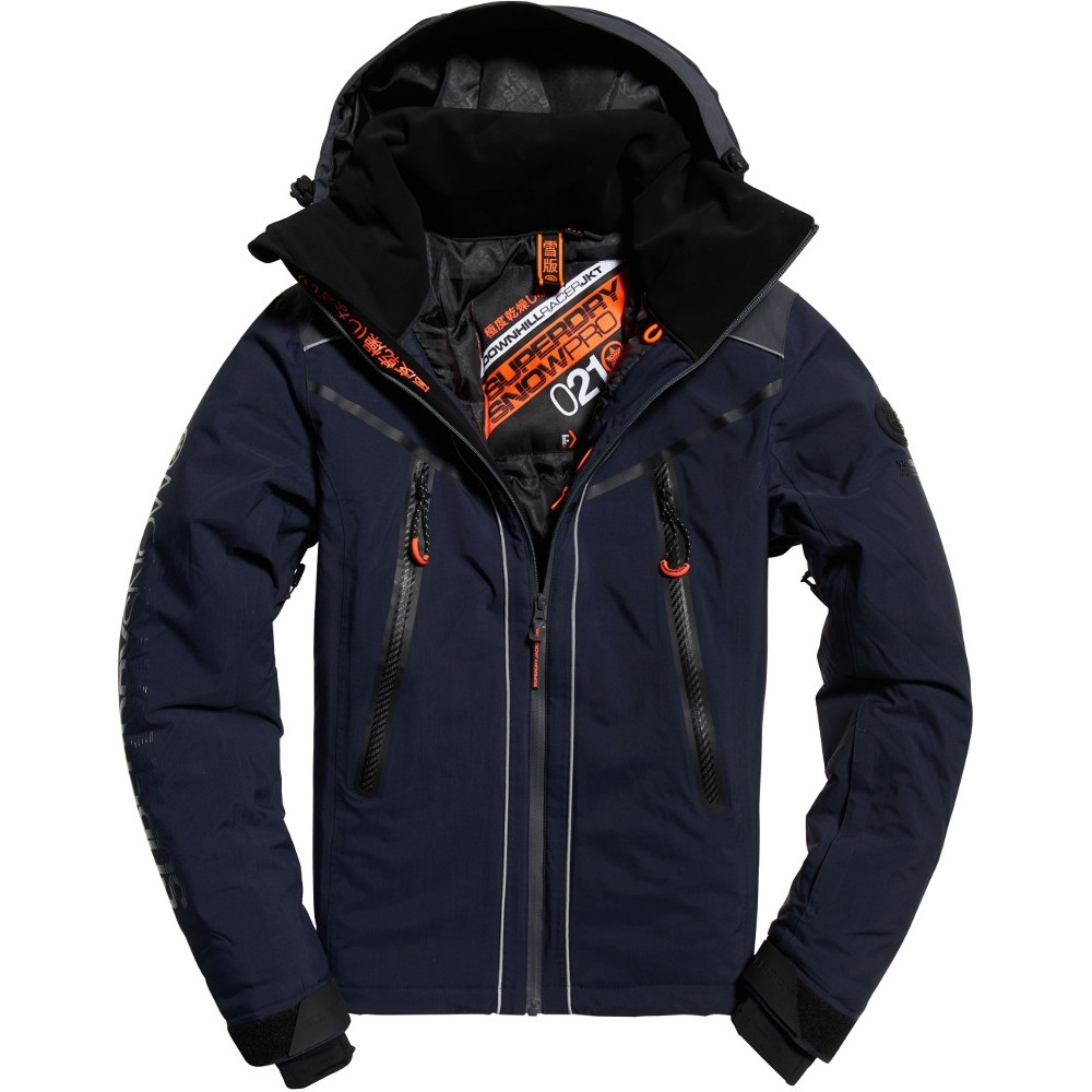 Superdry Mens Downhill Racer Padded Waterproof Ski Jacket Extra Small- Chest 34 (86cm)