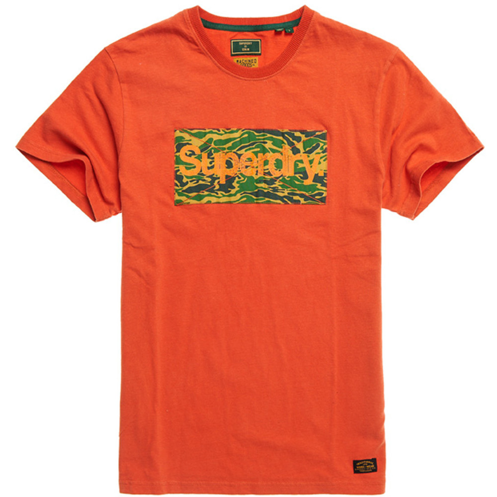 Superdry Mens Classic Logo Slim Fit Crew Neck Canvas T Shirt Small- Chest 36 (91cm)