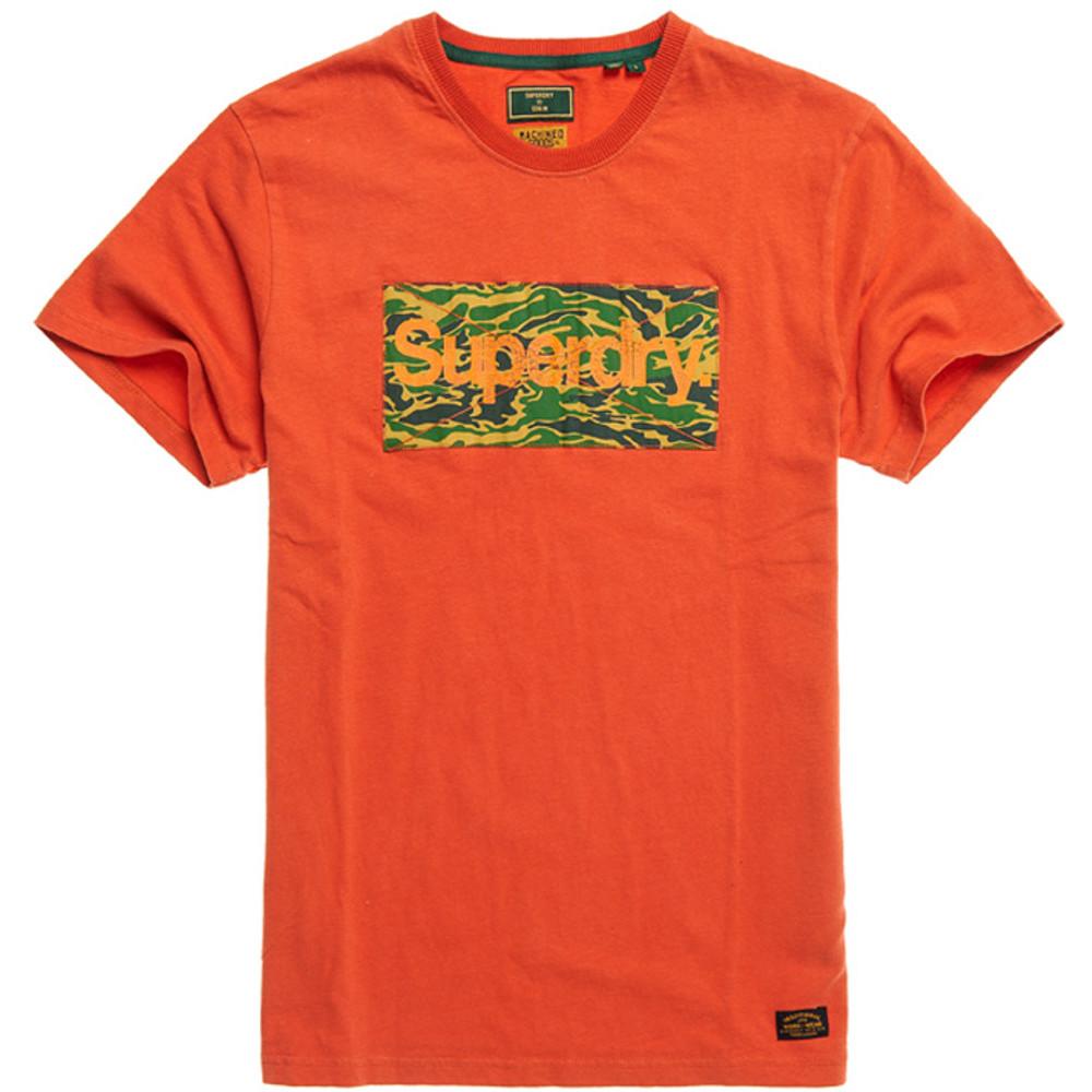 Superdry Mens Classic Logo Slim Fit Crew Neck Canvas T Shirt Large- Chest 40' (102cm)