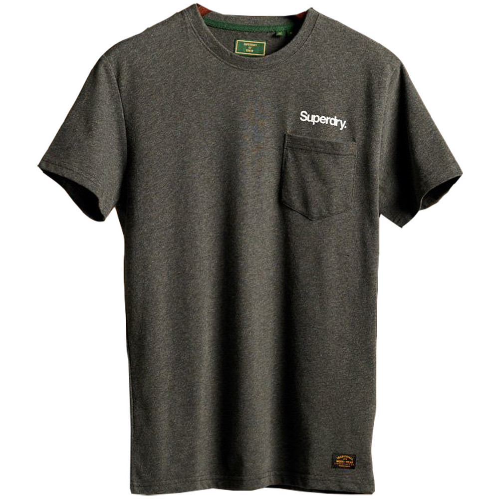 Superdry Mens Classic Logo Slim Fit Crew Neck Canvas T Shirt Extra Small- Chest 34' (86cm)
