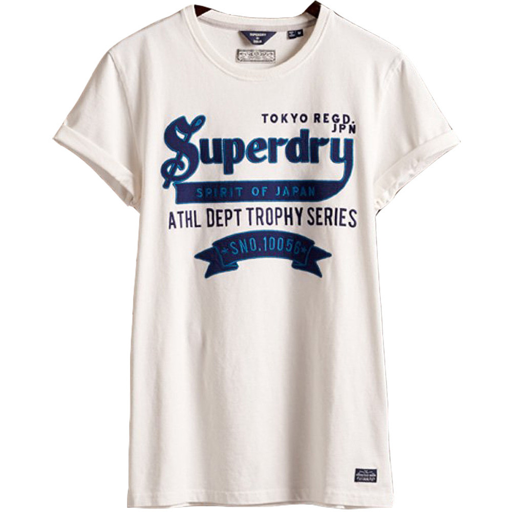 Superdry Mens Re-worked Classic Applique Slim Fit T Shirt Large- Chest 40' (102cm)