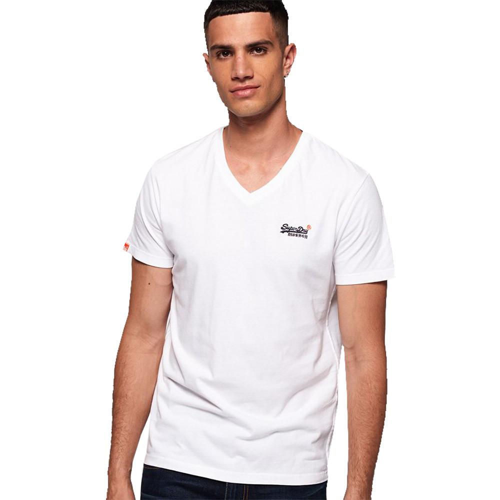 Superdry Mens Orange Label Vintage Embroidered Vee T Shirt Large- Chest 40' (102cm)