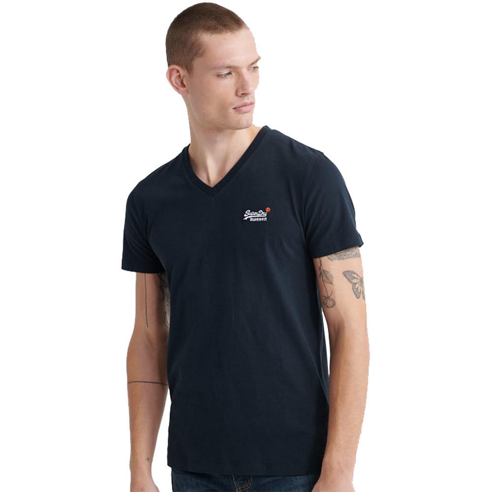 Superdry Mens Orange Label Vintage Embroidered Vee T Shirt Medium- Chest 38' (97cm)