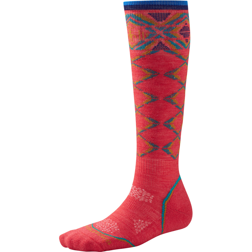 Product image of Smartwool Ladies PhD Ski Light Pattern Snow Sports Socks Red