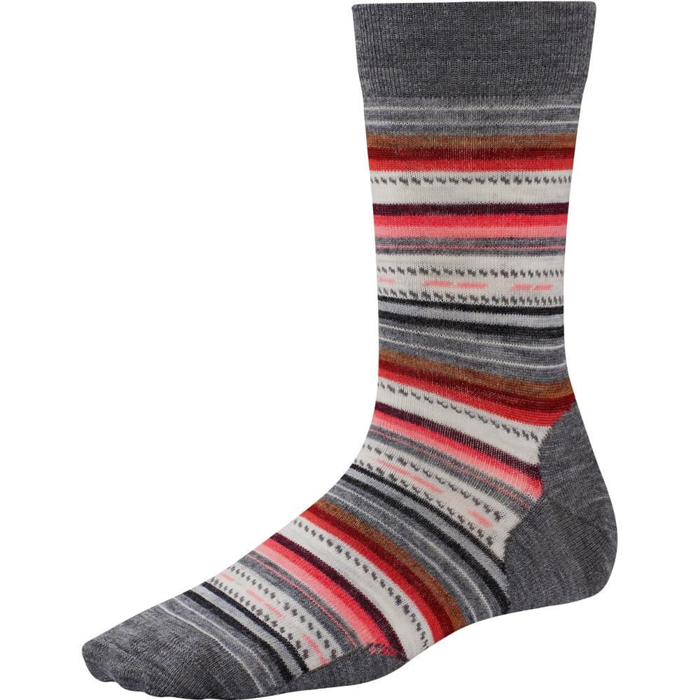 Product image of Smartwool Ladies Margarita Crew Height Patterned Casual Socks Grey