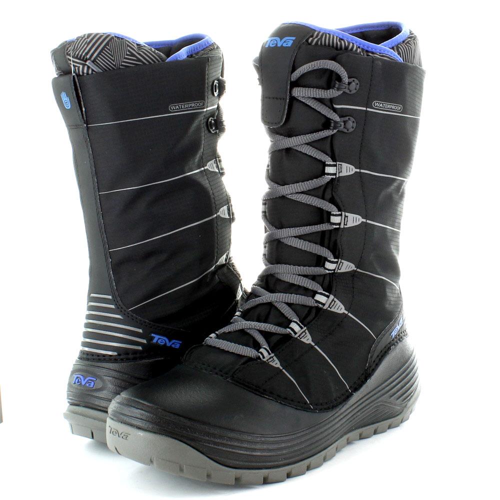 teva womens jordanelle waterproof winter snow boots black
