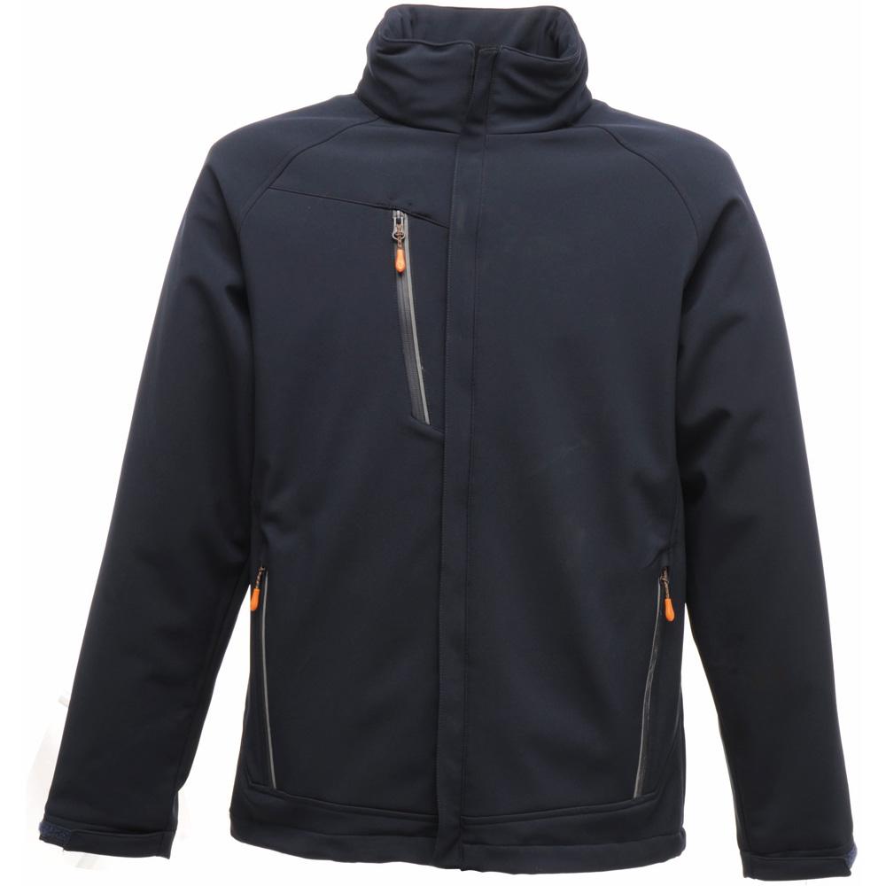 Regatta Mens Apex Waterproof Breathable Softshell Jacket Tra670 Navy