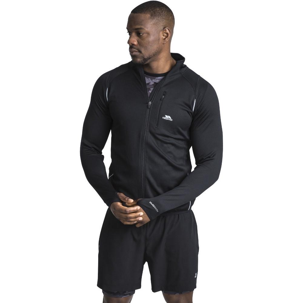 Trespass Mens Whiten Wicking Reflective Detail Running Jacket Xs- Chest 33-35 (84 - 89cm)