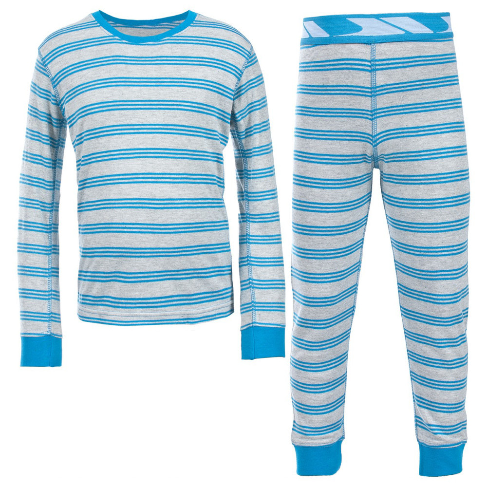 Product image of Trespass Boys Calum Stripe Warm Thermal Baselayer Top Pants Set