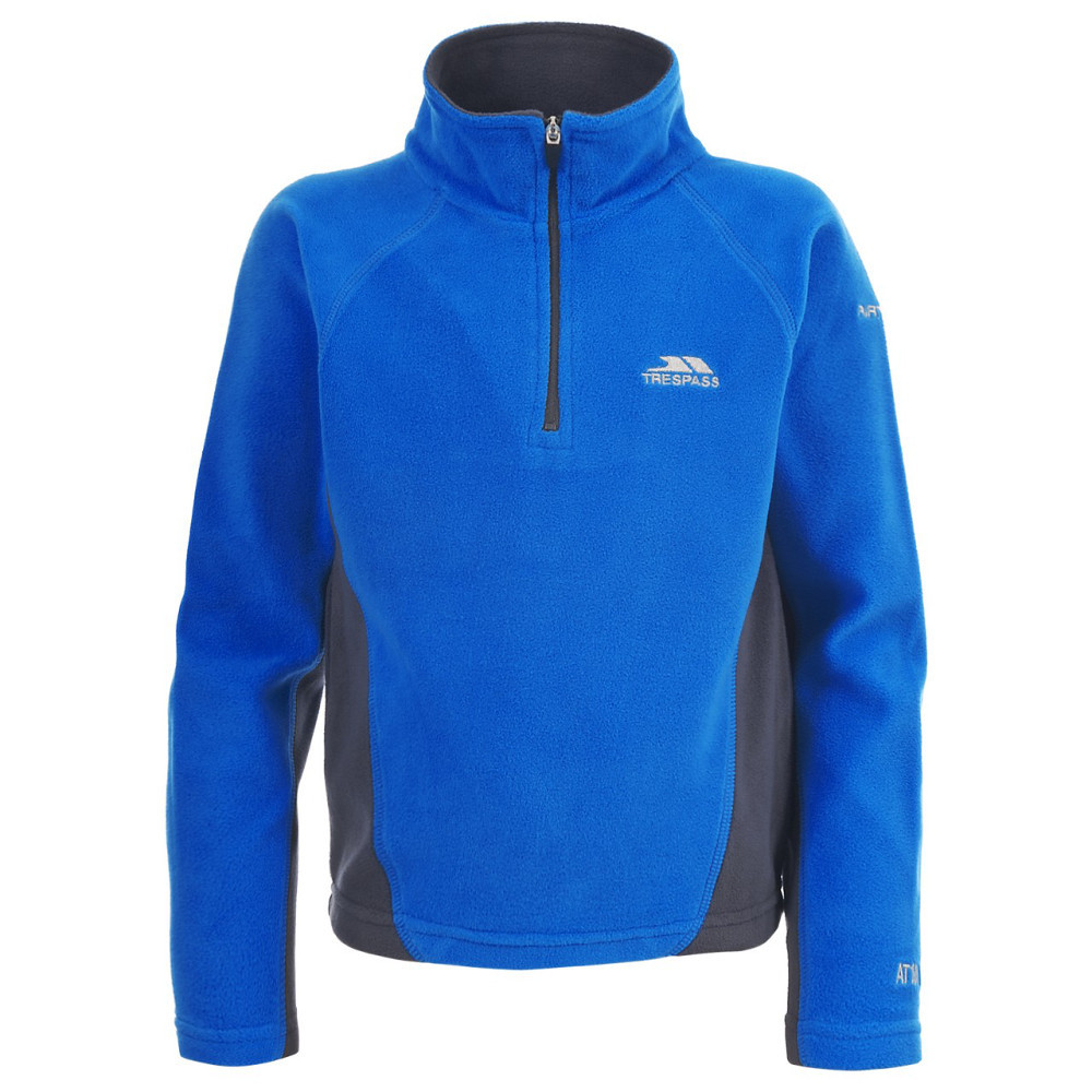 Product image of Trespass Boys Tron Lightweight Half Zip Microfleece Top