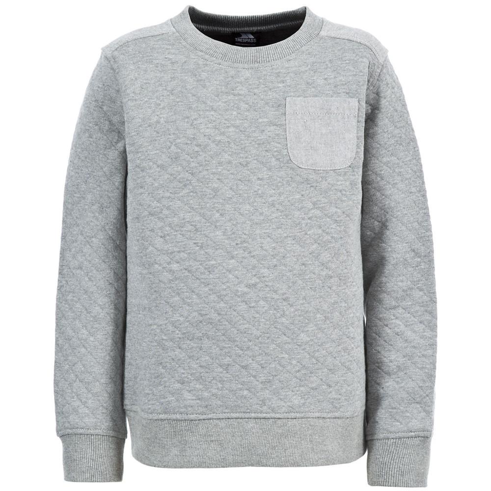 Product image of Trespass Boys Preston Polycotton Quilted Sweatshirt