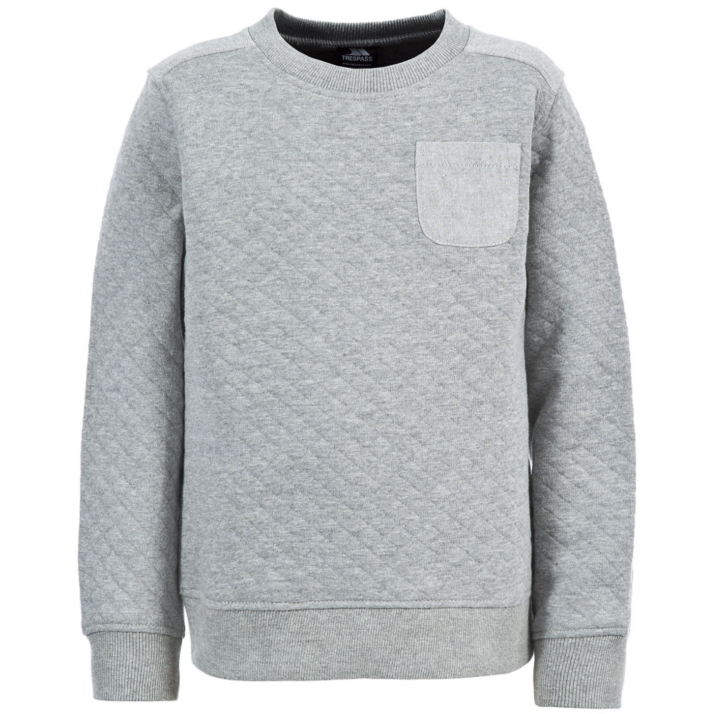 Product image of Trespass Boys Preston Polycotton Quilted Sweatshirt