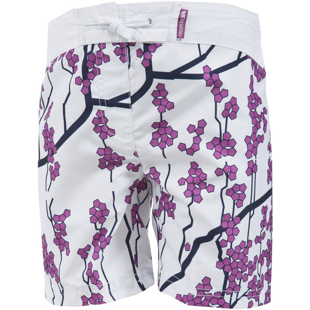 Product image of Trespass Girls Mabel Print Pattern Mid Length Summer Casual Shorts 11-12 years - Waist 26' (66cm)  I
