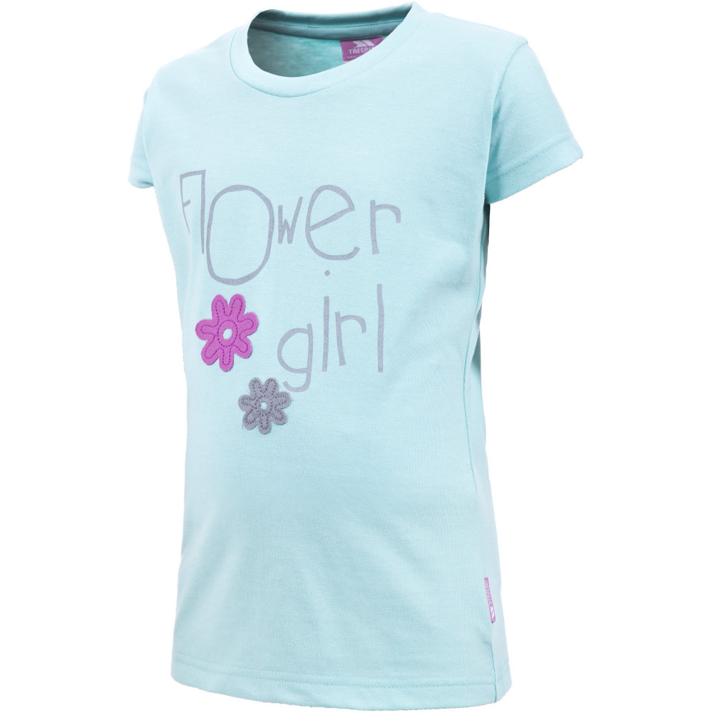 Product image of Trespass Girls Fruity Polycotton Flower Girl Graphic T Shirt 3-4 years - Height 40'  Chest 22' (56cm