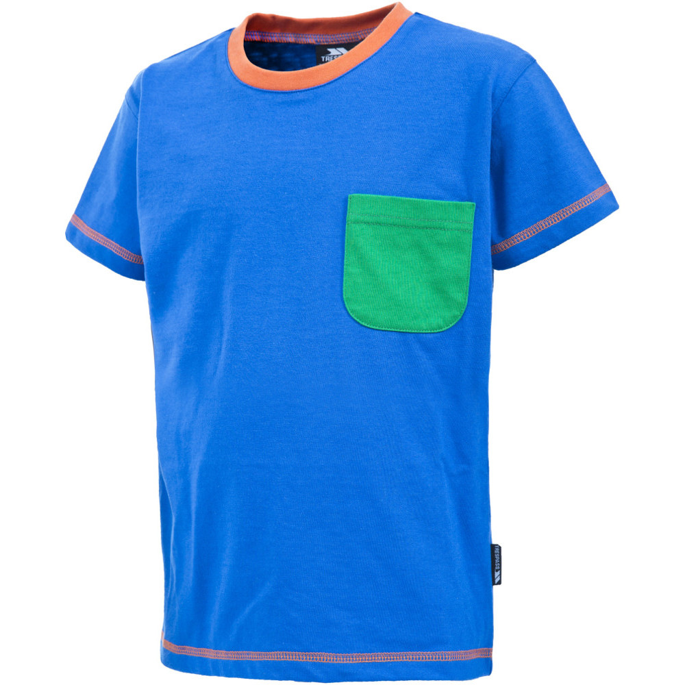 Product image of Trespass Boys Baylor Short Sleeve Contrast Colour T Shirt 11-12 years - Height 59'  Chest 31' (79cm)