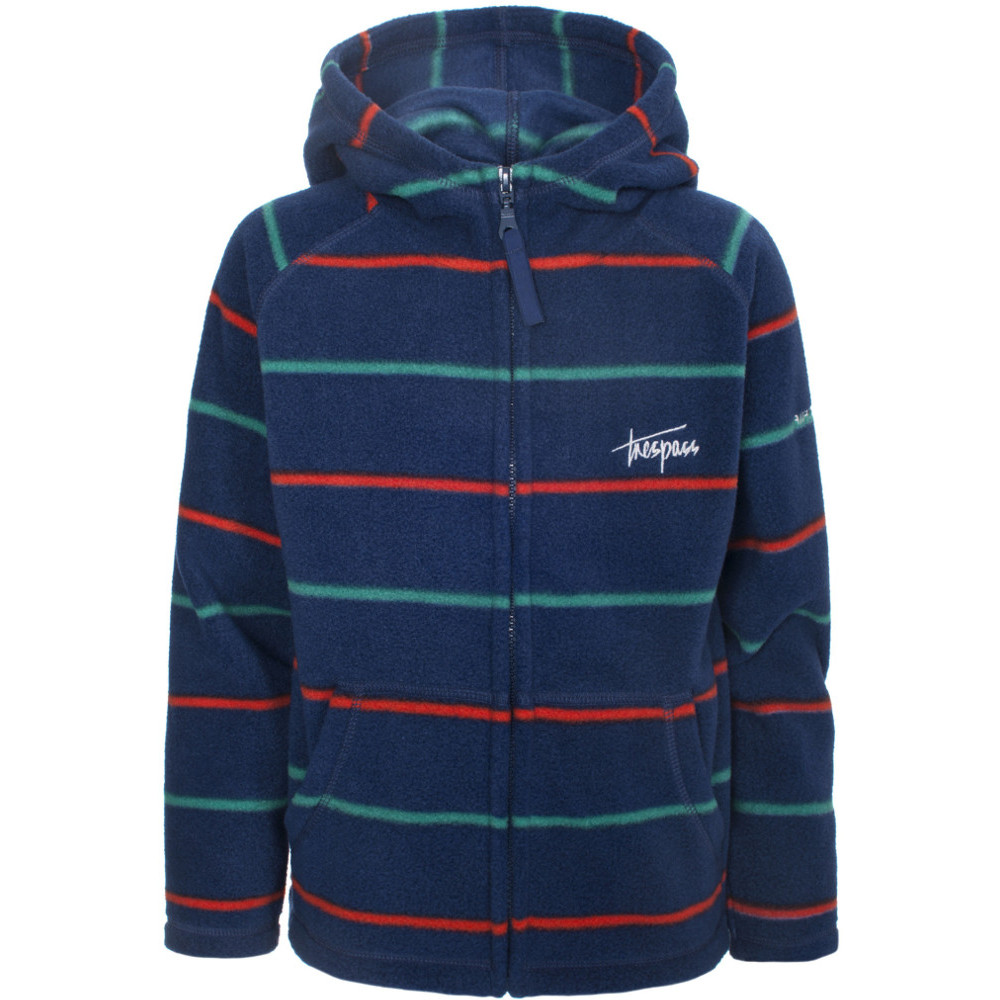 Product image of Trespass Boys Jiminy Soft Warm Striped Fleece Hoodie Top 5-6 years - Height 45'  Chest 24' (61cm)