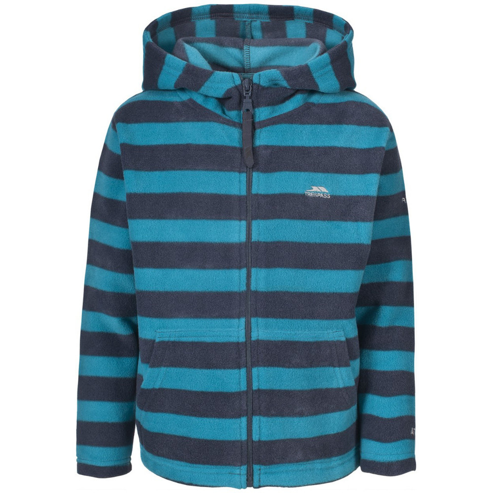 Product image of Trespass Boys Dempsie Soft Warm Striped Fleece Hoodie Top 2-3 years - Height 38'  Chest 21' (53cm)