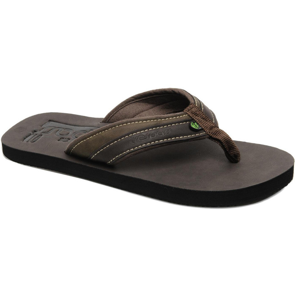 Product image of Trespass Mens Skink Faux Leather Flip Flop Sandals UK Size 5 (EU 39  US 6)