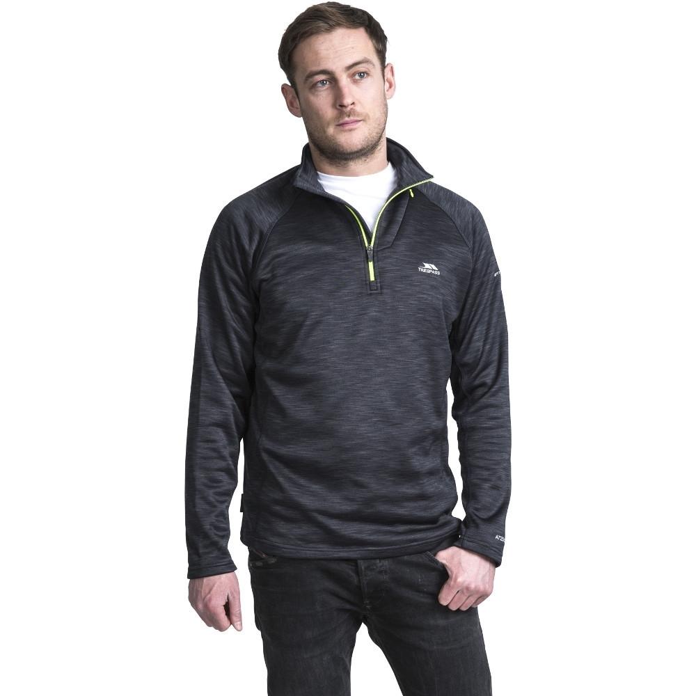 Trespass Mens Collins Half Zip Mediumweight Marl Fleece Top Xs - Chest 32-34 (83-88cm)