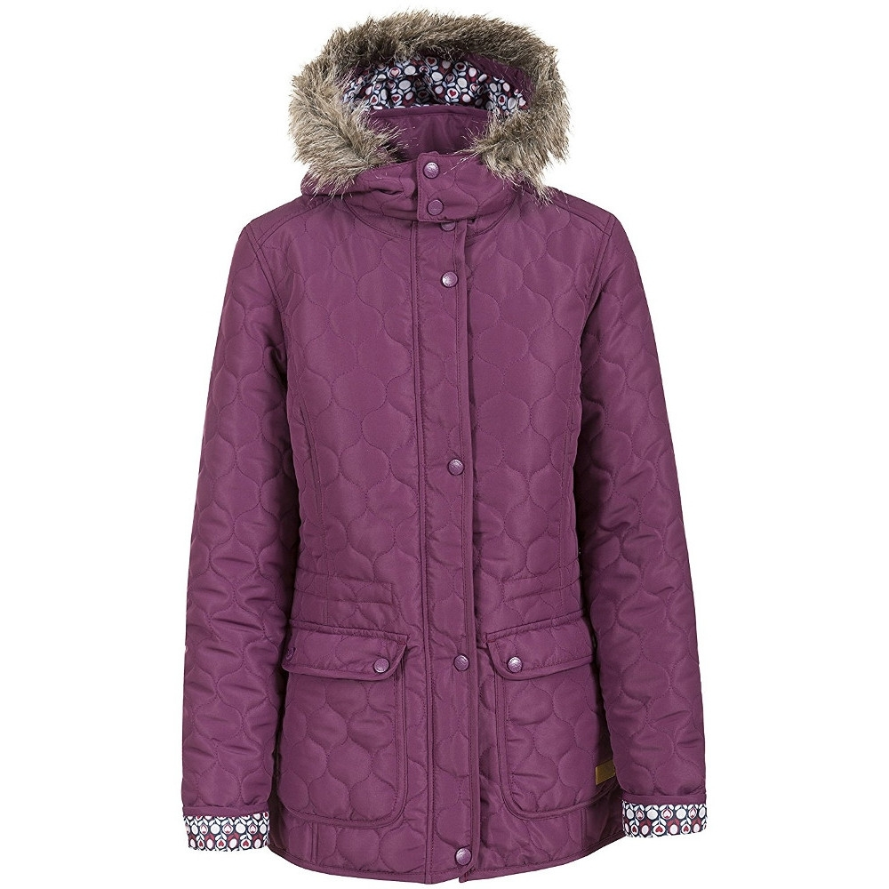 Trespass Womens Ladies Jenna Quilted Faux Fur Trim Casual Jacket L - Bust  38  596d8a4c1