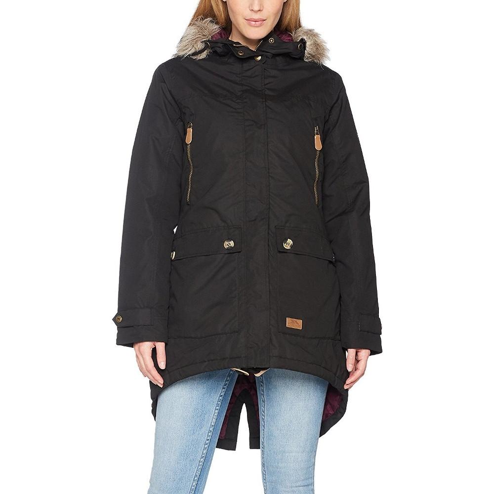 Trespass Womens/Ladies Clea Waterproof Faux Fur Trim Parka Jacket XL - Bust 40 (101.5cm)