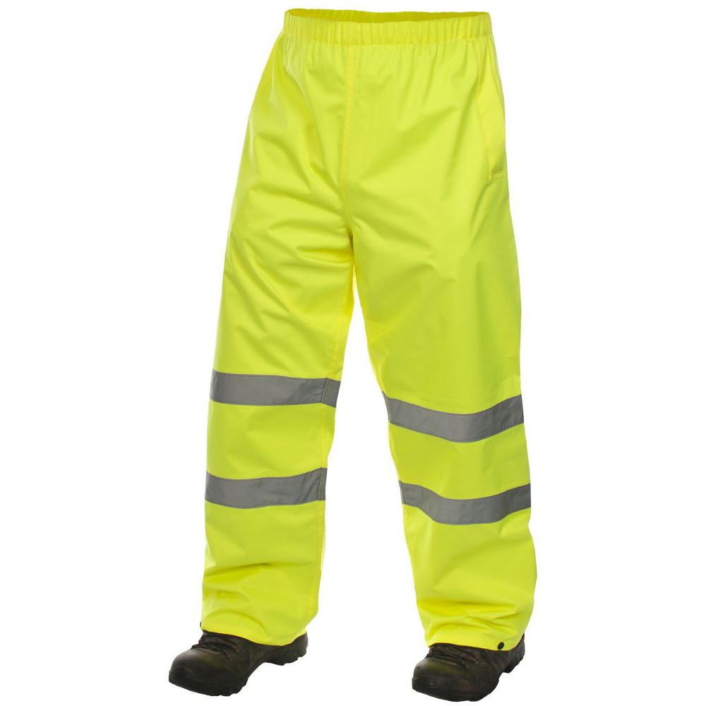 Trespass Mens Tomo Waterproof Breathable High Visibility Work Trousers Xl - Waist 38 (96.5cm)  Inside Leg 86cm