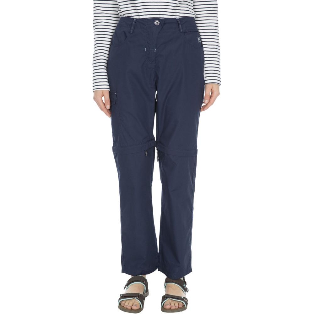 Trespass Womens/ladies Rambler Polycotton Zip Off Convertible Trousers 8/xs - Waist 25 (66cm)  Inside Leg 28