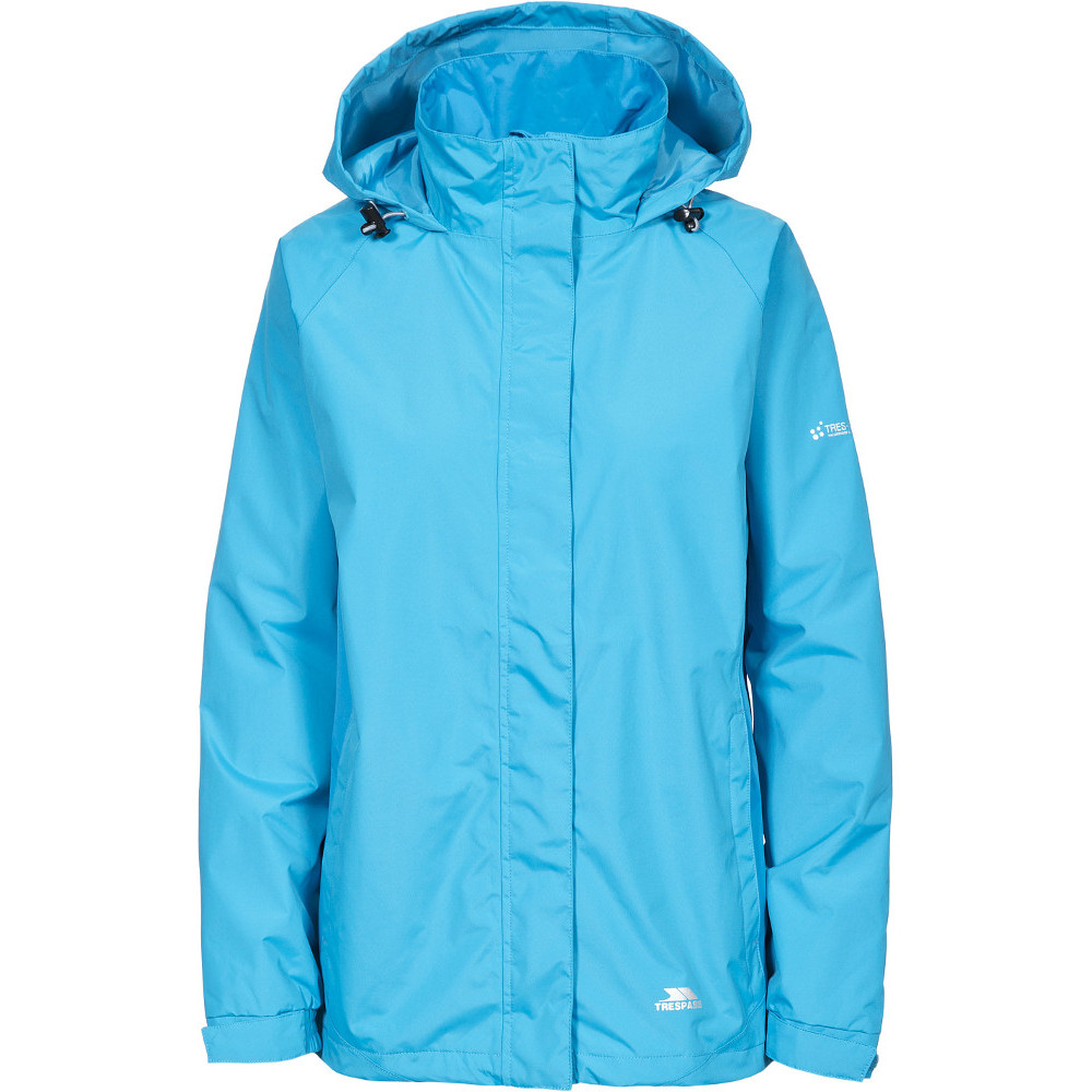 Trespass Womens/ladies Tarron Ii Waterproof Lightweight Shell Jacket 6/xxs - Bust 30 (76cm)