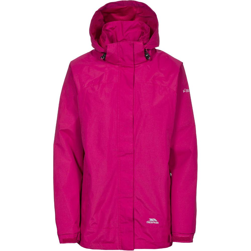 Trespass Womens/ladies Nasu Ii Waterproof Mesh Lined Shell Jacket 6/xxs - Bust 30 (76cm)