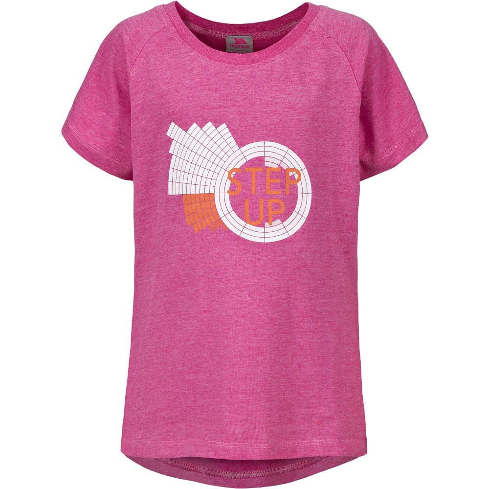 Trespass Girls Elva Polyester Cotton Round Neck Printed T-shirt 9-10 Years - Height 55  Chest 28 (71cm)