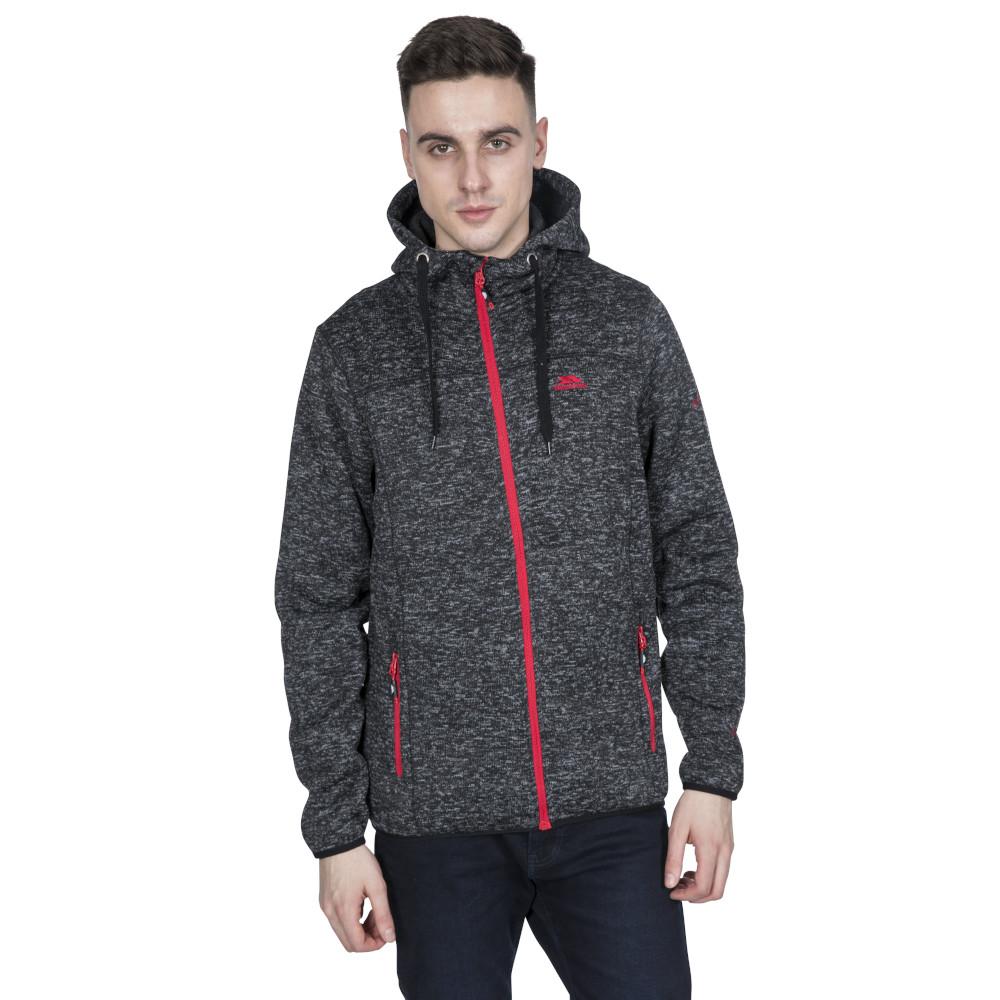 Trespass Mens Odeno Knitted Full Zip Airtrap Fleece Jacket Xxl - Chest 46-48 (117-122cm)