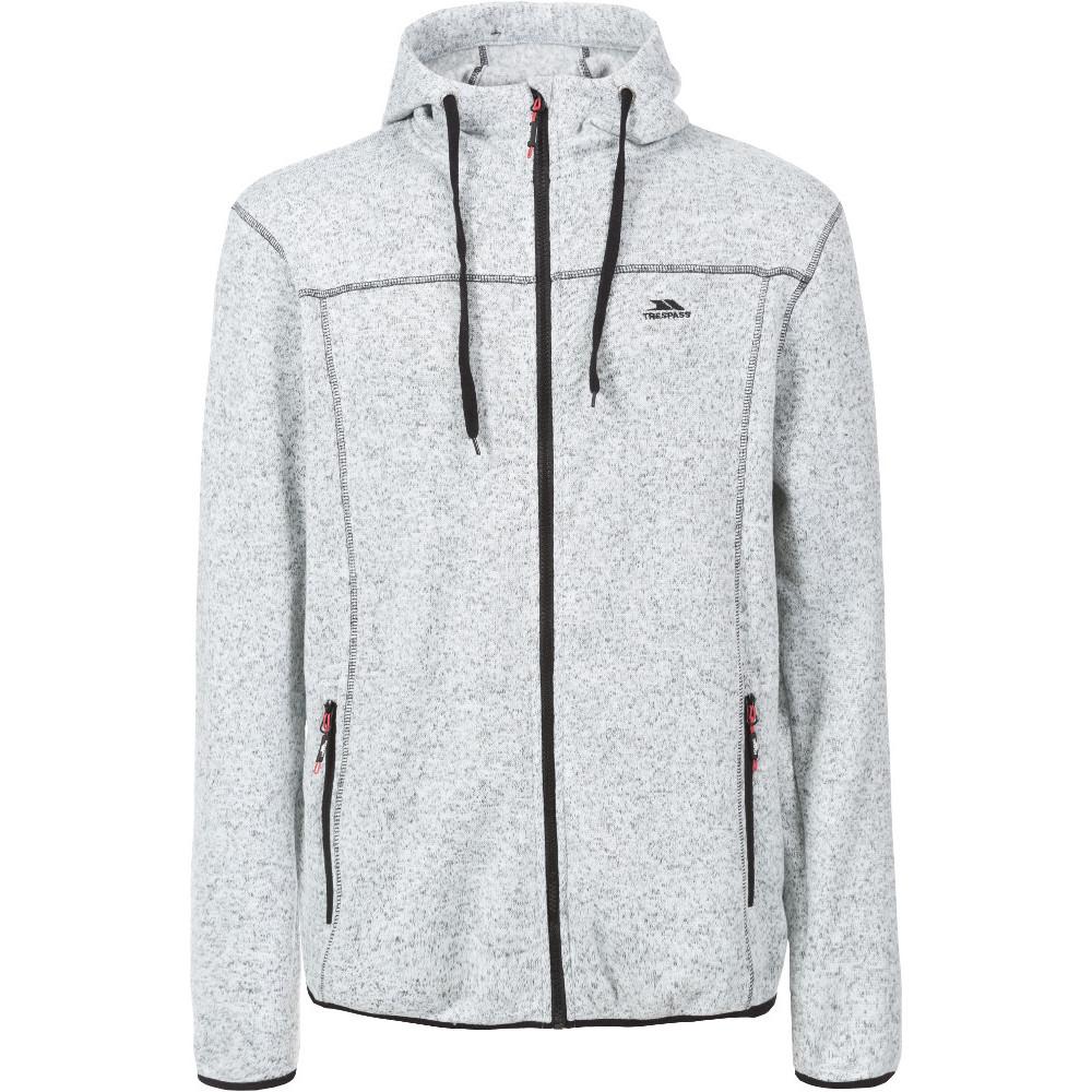 Trespass Mens Odeno Knitted Full Zip Airtrap Fleece Jacket S - Chest 35-37 (89-94cm)