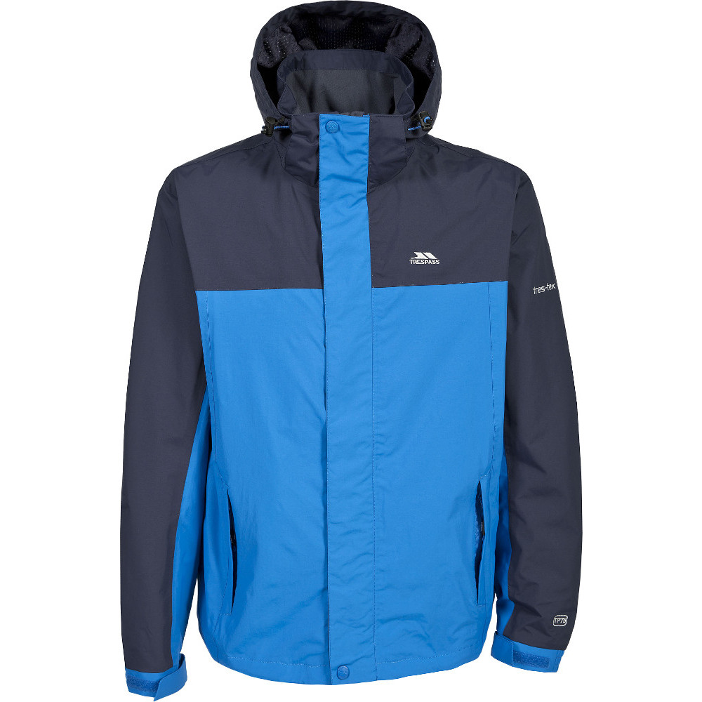 Trespass Mens Phelps Waterproof Breathable Windproof Rain Shell Jacket S - Chest 35-37 (89-94cm)