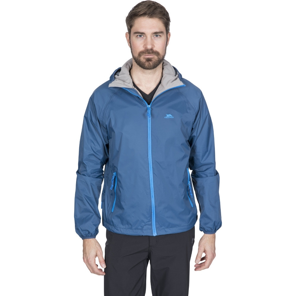 Trespass Mens Rocco Ii Waterproof Breathable Rain Shell Jacket L - Chest 41-43 (104-109cm)