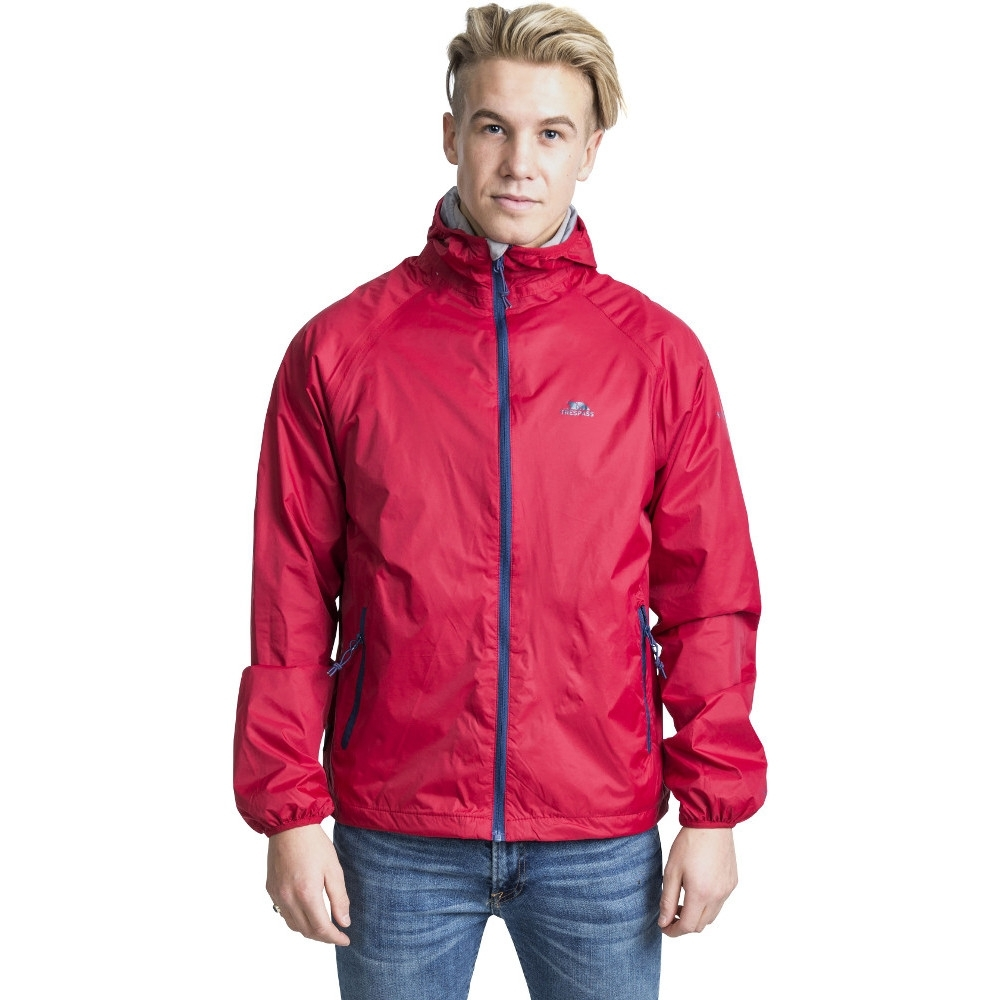 Trespass Mens Rocco Ii Waterproof Breathable Rain Shell Jacket Xs - Chest 32-34 (83-88cm)