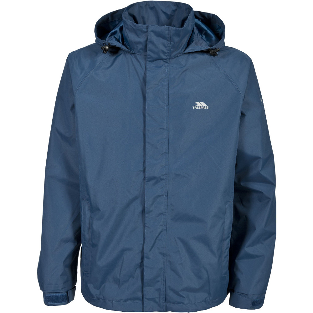 Trespass Mens Nabro Ii Waterproof Windproof Rain Shell Jacket Xl - Chest 44-46 (111.5-117cm)