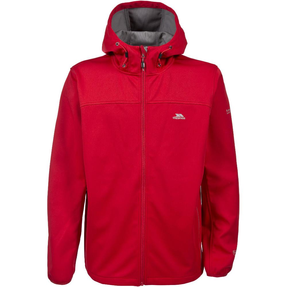 Trespass Mens Zeek Knitted Waterproof Breathable Softshell Jacket L - Chest 41-43 (104-109cm)