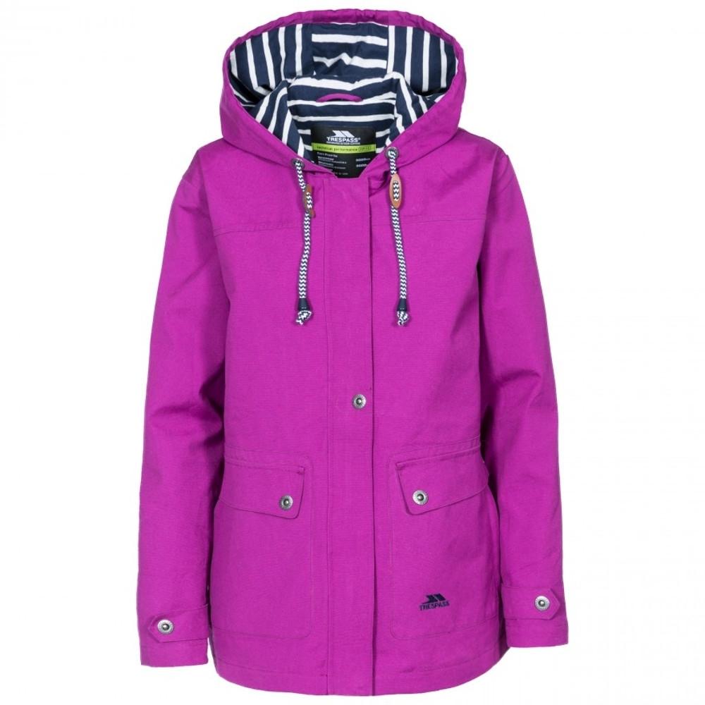 Trespass Womens/ladies Seawater Waterproof Breathable Windproof Jacket 10/s - Bust 34 (86cm)