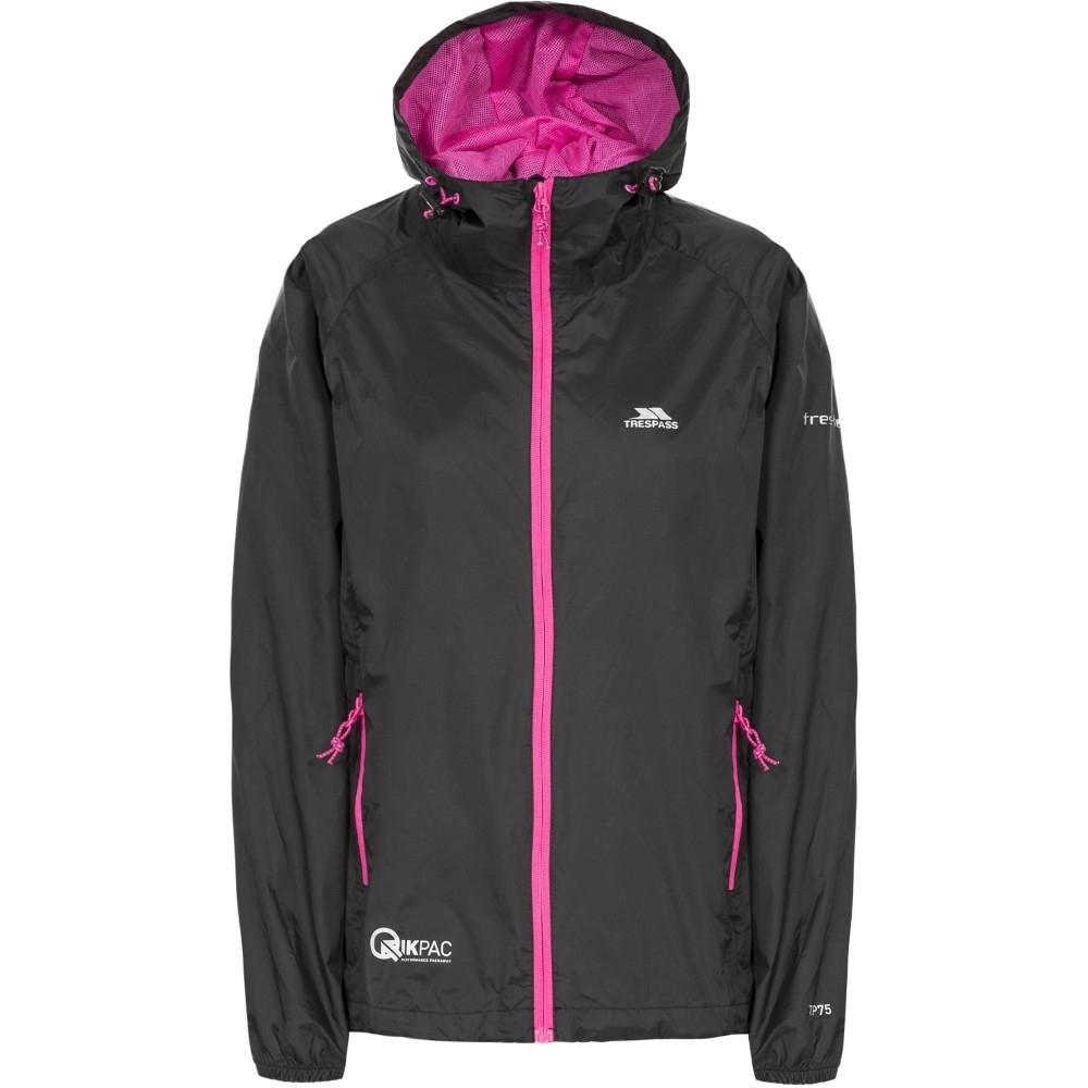 Trespass Womens/ladies Qikpac Waterproof Breathable Windproof Jacket Xxs - Bust 31 (78cm)