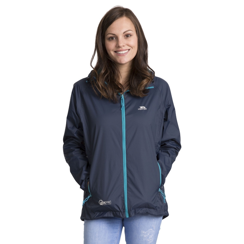 Trespass Womens/ladies Qikpac Waterproof Breathable Windproof Jacket Xs - Bust 32 (81cm)