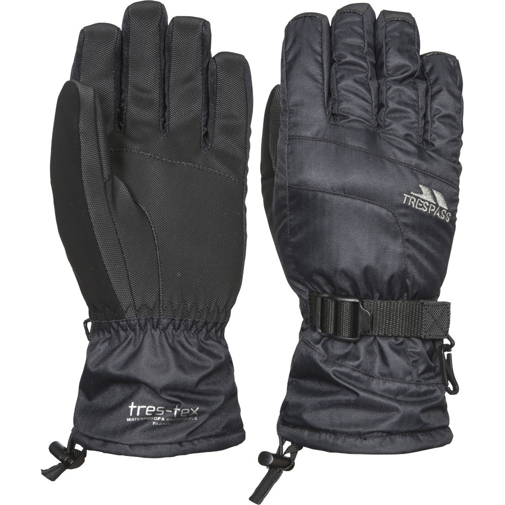 Trespass Womens/ladies Embray Waterproof Breathable Warm Padded Gloves Extra Large