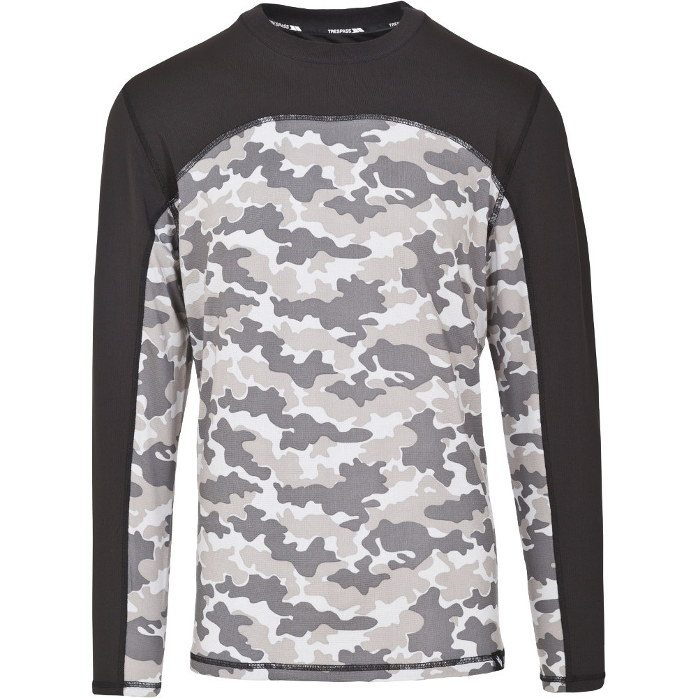 Trespass Mens Drill Base Layer Wicking Quickdry Long Sleeve Top Xxs - Chest 29-31 (77-82cm)